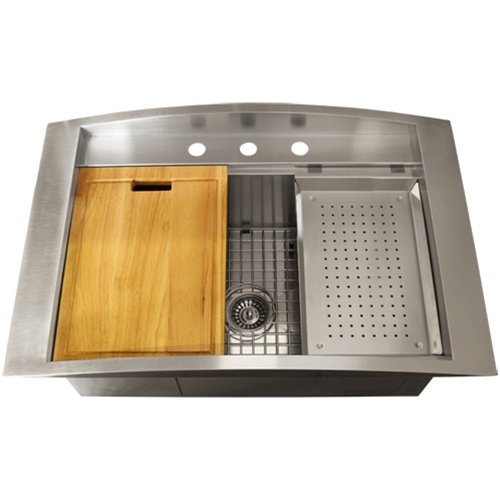 Ticor sinks ticor overmount 16 gauge stainless steel - Square stainless steel bathroom sink ...