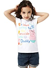 Pure Cotton Peppa Pig Seaside T-Shirt