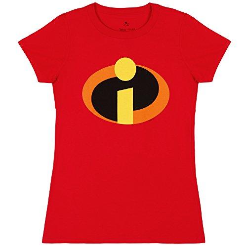 Disney Incredibles Logo Juniors T Shirt Small Red