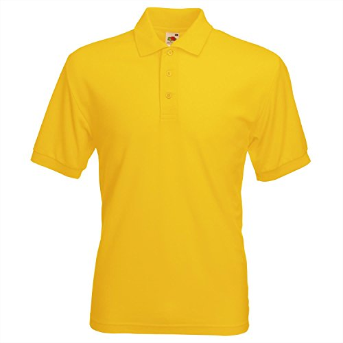 Herren Fruit of the Loom 65/35 Polo-Shirt - Sunflower - L