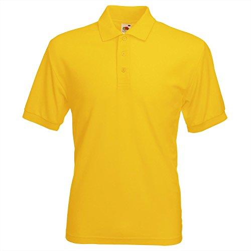Herren Fruit of the Loom 65/35 Polo-Shirt - Sunflower - L