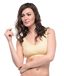 Bodycare_1607 Women's Sports Bra ( Bodycare_1607_20_Skin_Small-80cm)