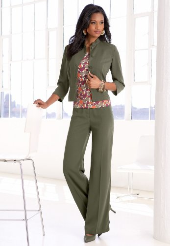 Stand Collar Pantsuit