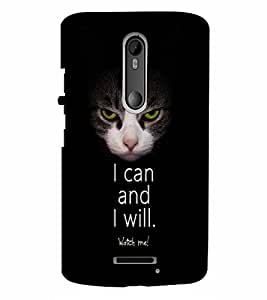 PrintVisa Quotes & Messages Attitude 3D Hard Polycarbonate Designer Back Case Cover for Motorola Moto X3