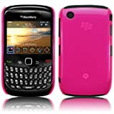 KEEP TALKING - BLACKBERRY CURVE 8520 TRANSPARENT BACK COVER CASE - HOT PINKby The Keep Talking Shop