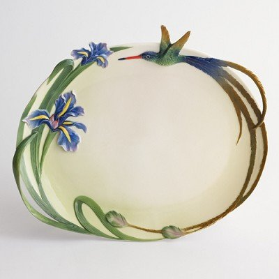 Franz Porcelain Long tail hummingbird ornamental