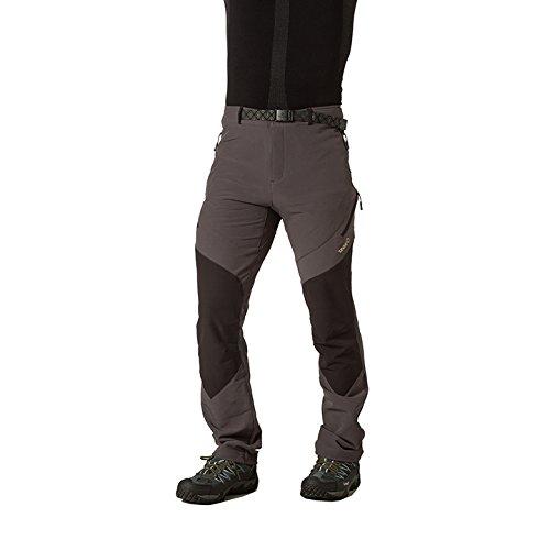 Izas Cade - Pantaloni da trekking, da uomo, UOMO, Cade, Gris oscuro / Negro, M