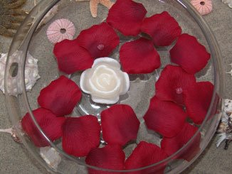200 FLOATING Silk Rose Petals Burgundy Wedding