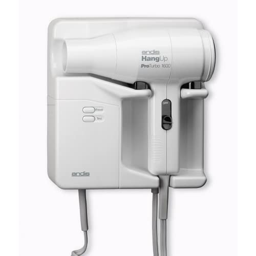 Andis 33490 Hangup Turbo 1600w Wall Mount Hair Dryer Ebay
