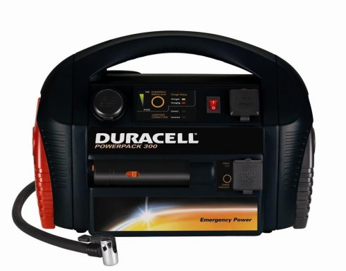 Duracell DPP-300EP Powerpack 300 with Built-in 300-watt Inverter and 250 PSI Air Compressor, (Pack of 1)