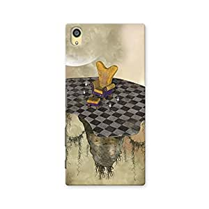 ArtzFolio Fantasy Landscape With Armchair Candles And Books : Sony Xperia Z5 Matte Polycarbonate ORIGINAL BRANDED Mobile Cell Phone Protective BACK CASE COVER Protector : BEST DESIGNER Hard Shockproof Scratch-Proof Accessories
