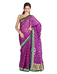 Mina Bazaar Brasso And Net Saree With Blouse Piece - B00NSCR2RG