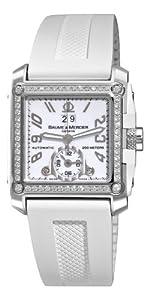 Baume & Mercier Men's A8842 Hampton Square White Dial Diamond Watch