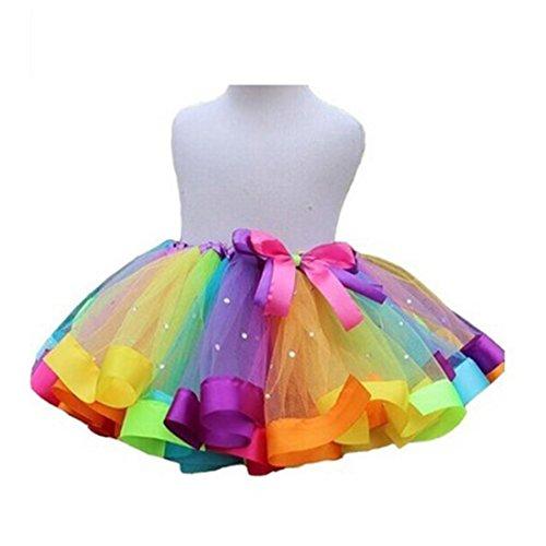 Baby Girl Tutu Skirts Pettiskirt Rave Ballet Dance Ruffle Tiered Clubwear