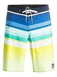Quiksilver Men\'s Everyday Stripe 21 Inch Boardshort, Everyday Stripe Tarmac, 36