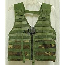 Molle Fighting Load Carrie FLC Vest Woodland Camo