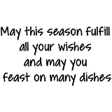 Gourmet Rubber Stamps May This Season Fulfill All Your Wishes Cling Stamps, 2.75 x 4.75