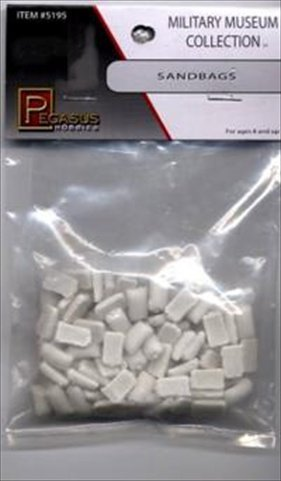Sandbags (Unpainted) Model Supplies