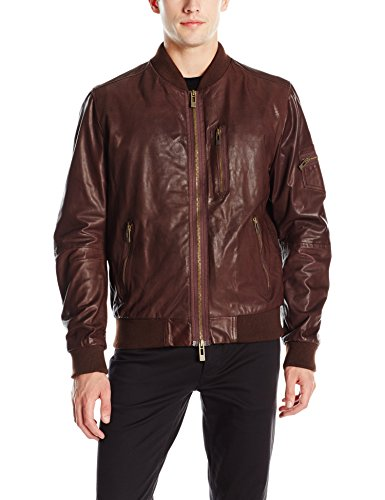 ROGUE-Mens-Super-Soft-New-Zealand-Lamb-Leather-Zip-Bomber-Jacket