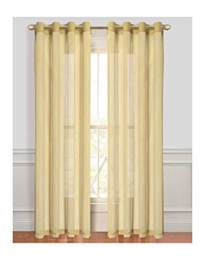 Cay Trading Set of 2 Dainty Home Malibu Window Panels, Beige