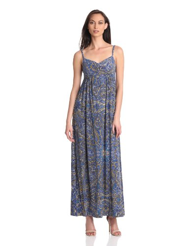 Nieves Lavi Women's Collection Maxi Jersey Dress, Empire, Small