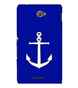 printtech Ship Anchor Back Case Cover for Sony Xperia E4 Dual::Sony Xperia E4