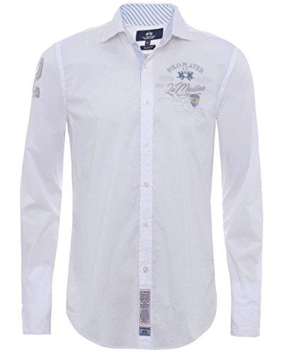 la-martina-slim-fit-klaus-shirt-blanc-xl
