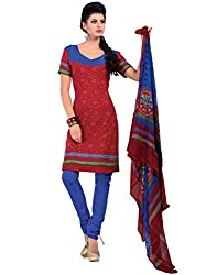 Yehii Women's Crepe Maroon Floral dress material Unstitched Salwar Kameez Dupatta for women party wear low price Below Sale Offer