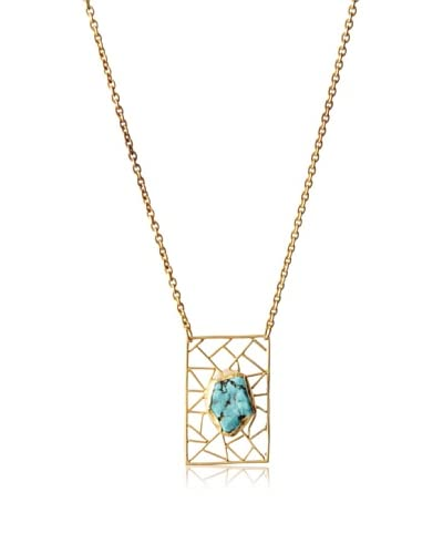 Zariin Aurora Eye Turquoise Necklace