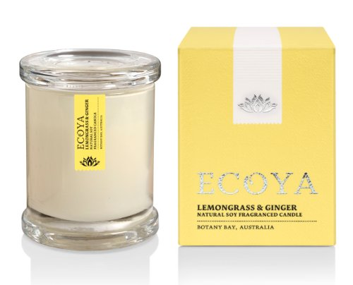 Ecoya Mini Metro Jar Scented Candle in Lemongrass & Ginger Fragrance