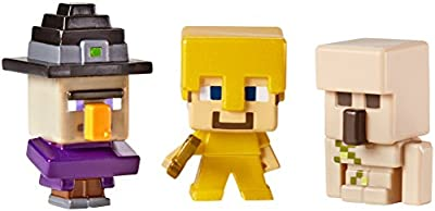 Minecraft Collectible Figures Witch Iron Steve Golem 3-pack Series 1 from Mattel