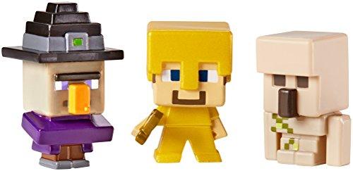 Minecraftのミニフィギュア3パック魔女、スティーブとアイアンゴーレム   Minecraft Mini-Figures 3 Pack Witch, Steve and Iron Golem