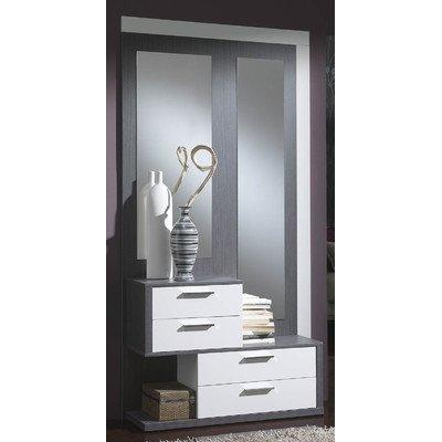 Garderoben Set Farbe: Esche / Weiß