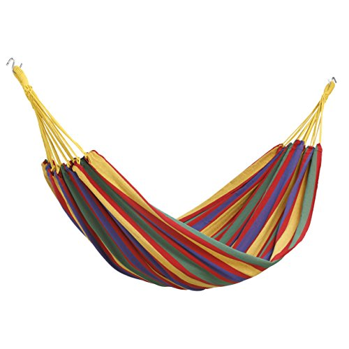 VonHaus Portable Lightweight 2 Person Double Brazilian Hammock with Travel Bag - Ideal for Backyard, Porch, Camping, Outdoor and Indoor Use