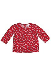 Chirpie Pie by Pantaloons Girl's Round Neck Blouse (205000005607270, Red, 12-18 Months)