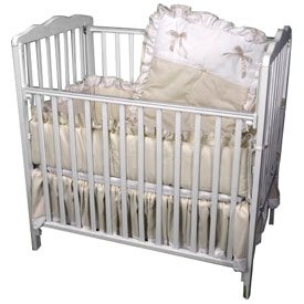 Pretty Pique Porta Crib Set - Color: Ecru back-980555