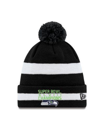 NFL Seattle Seahawks Super Bowl Champions 2 Tone Knit Beanie at Amazon.com