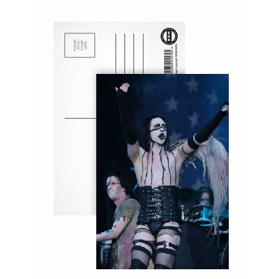 Marilyn Manson - Postcard (Pack of 8) - 6x4 inch - Art247 Highest Quality - Standard Size - Pack Of 8