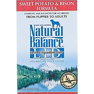 Natural Balance Dry Dog Food, Grain Free Limited Ingredient Diet Bison and Sweet Potato Recipe, 28 Pound Bag