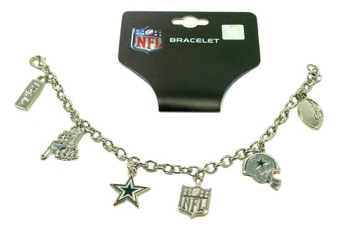Dallas Cowboys Charm Bracelet Silvertone Nfl Team New at Amazon.com