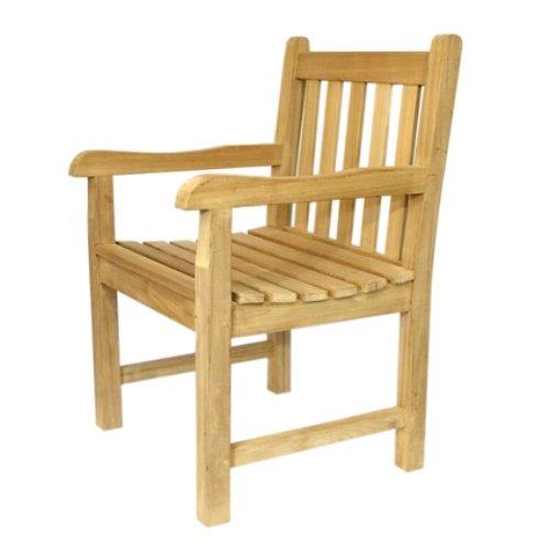 """Massiver Teakstuhl """"Serua"""" mit Armlehnen Gartenstuhl Teak Stuhl jetzt kaufen"""