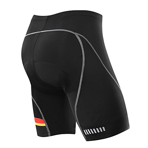MEN'S CYCLING SHORT with 3D Pad - 8 Panel Anatomic, Color Block - Asymmetric Design (X-Large) (Man Cycling Clothes compare prices)
