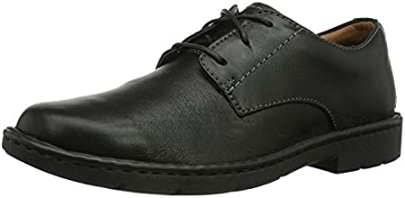 Clarks Stratton Way, Chaussures de ville homme - Noir (Black Leather), 42 EU