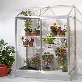 4x2 Lean-to Greenhouse with Safe Glazing