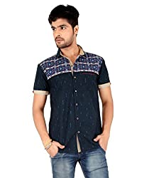 Carbone Men's Silm Fit Casual Shirt-L