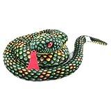 蛇年記念に! リアルな 模様 全長 80センチ ヘビの ぬいぐるみ グリーン 干支