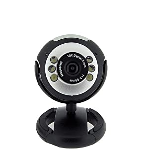 6 LED USB PC Webcam Web Camera + Night Vision