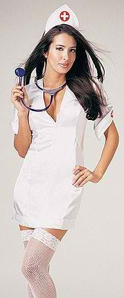 Sexy Nurse Dress With Headpiece, Plus Size