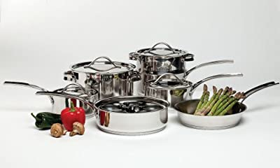 Gordon Ramsay by Royal Doulton 42285911a Maze 11-Piece Cookware Set with Bonus Egg Poacher