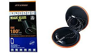 JIYANSHI combo of unbreakable screen guard & earphone multi-colored in ear. Compatible for Micromax Canvas 2 A120